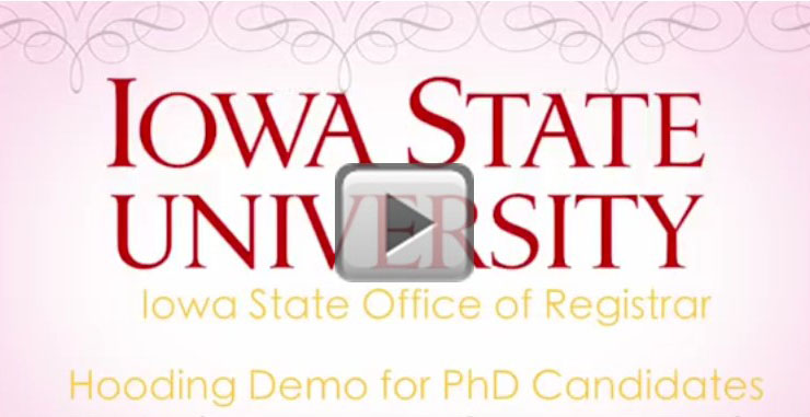 Hooding Demo Video for PhD Candidates